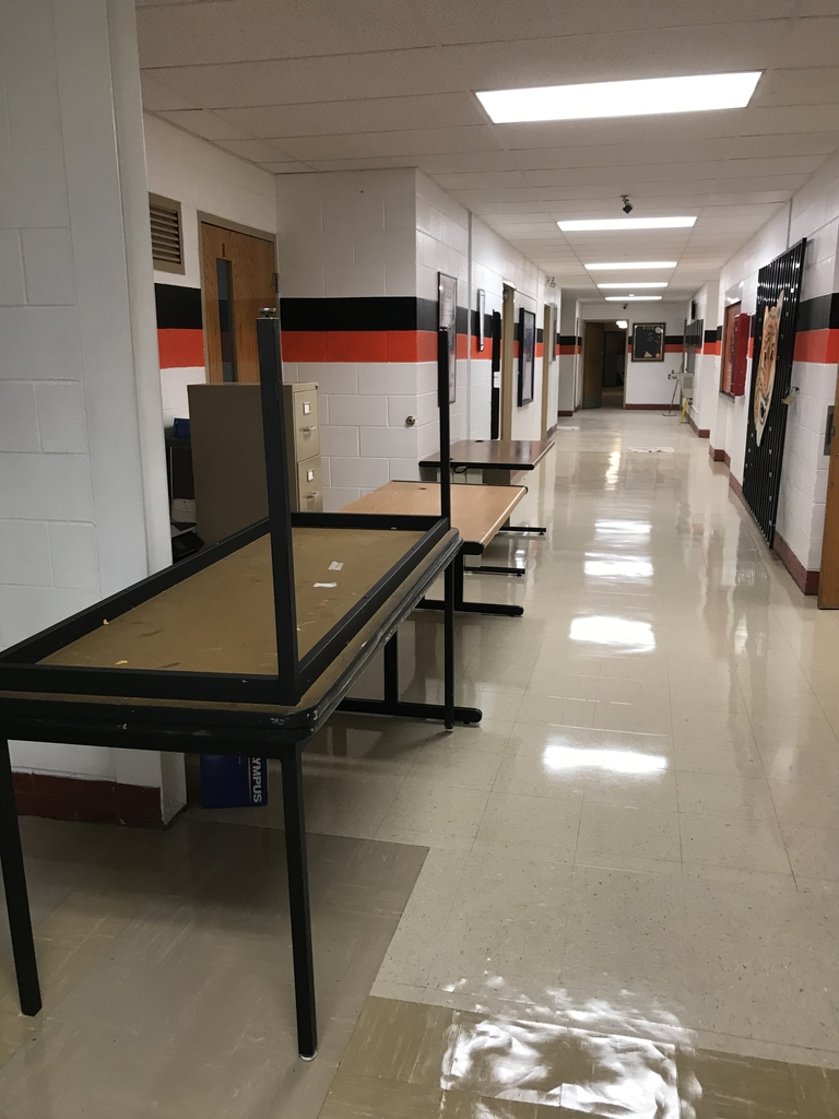 Moving tables and getting ready for school!